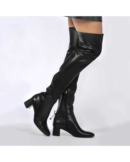 Tory Burch - Black Laila Over The Knee Boots - Lyst