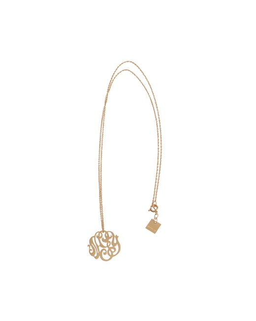 Ginette NY | Metallic Baby Monogramme Gold Necklace | Lyst