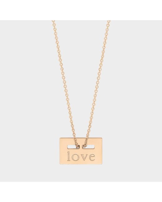 """Ginette NY Metallic """"love"""" Rose Gold Plated Necklace"""