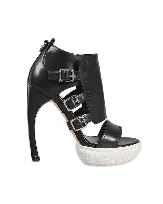 Alexander McQueen - Black Sandal With Buckles - Lyst
