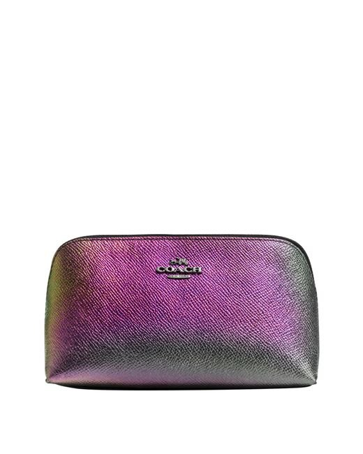COACH   Purple Cosmetic Case 17 In Hologram Leather   Lyst
