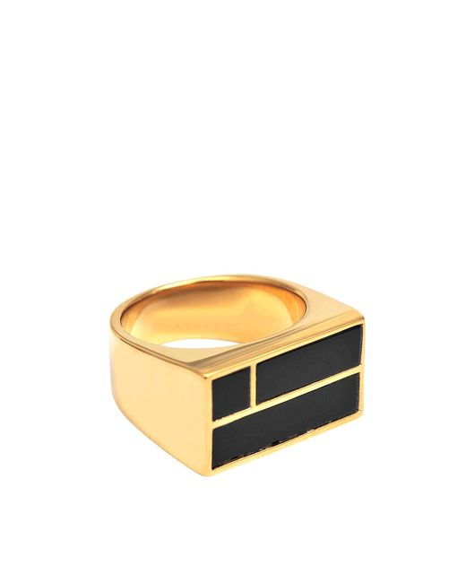 Aurelie Bidermann | Metallic Bianca Square Onyx Ring | Lyst