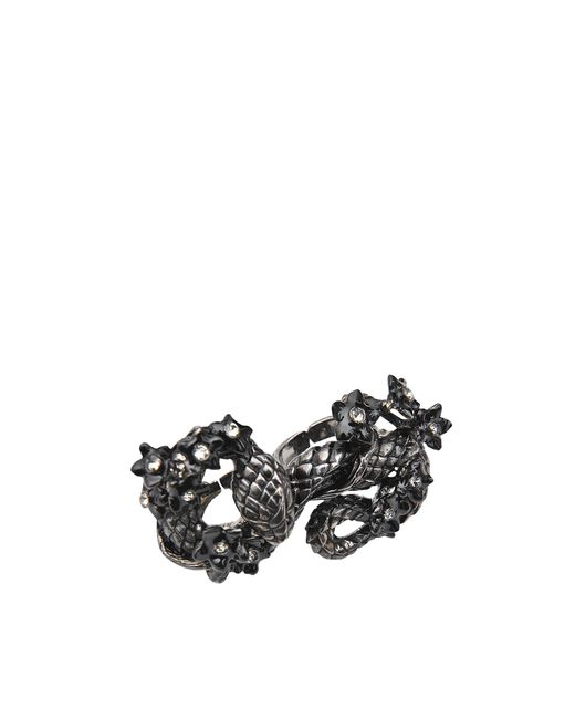 Roberto Cavalli | Metallic Snake Flowers Ring | Lyst
