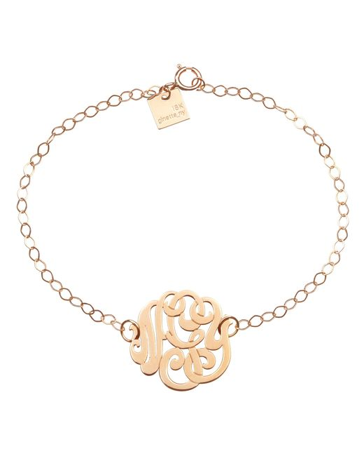 Ginette NY | Metallic Monogramme Bracelet | Lyst