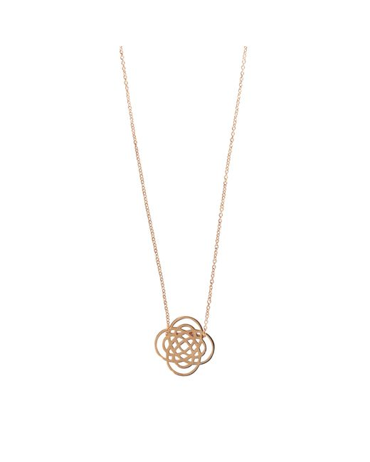 Ginette NY | Metallic Mini Purity Pink Gold Necklace | Lyst