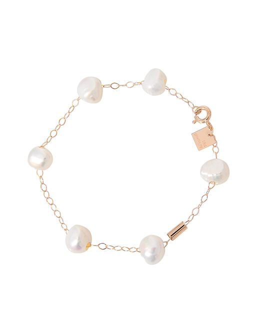 Ginette NY | White Pearls And Tube On Chain Bracelet | Lyst