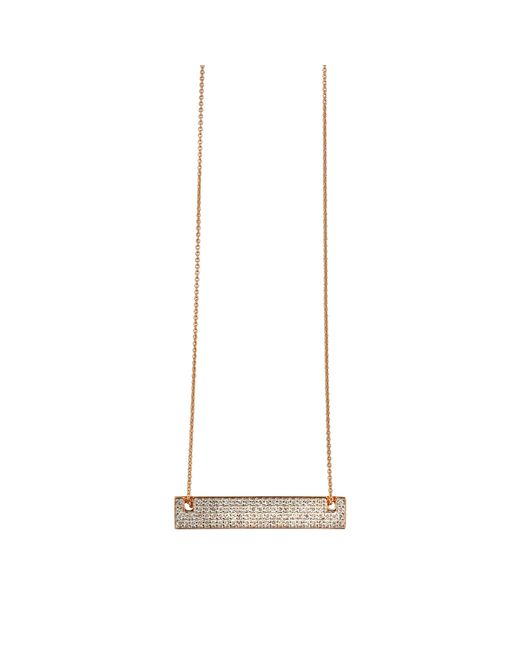 Ginette NY | Metallic Mini Diamond Baguette On Chain Necklace | Lyst