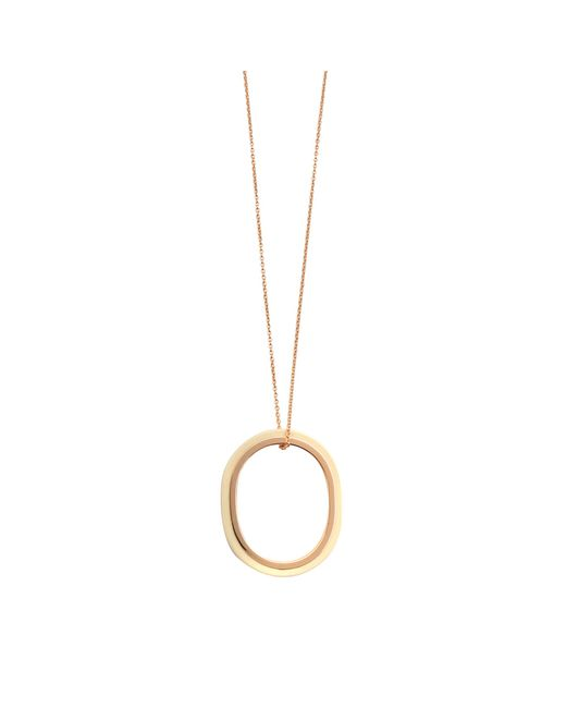 Ginette NY | Metallic Ivory Ceramic And Gold Tv On Chain Necklace | Lyst