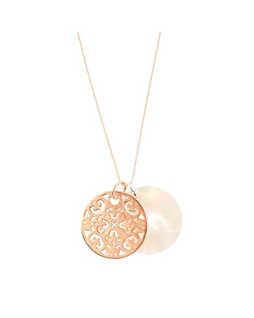 Thomas Sabo | Pink Rosace Duo Necklace | Lyst