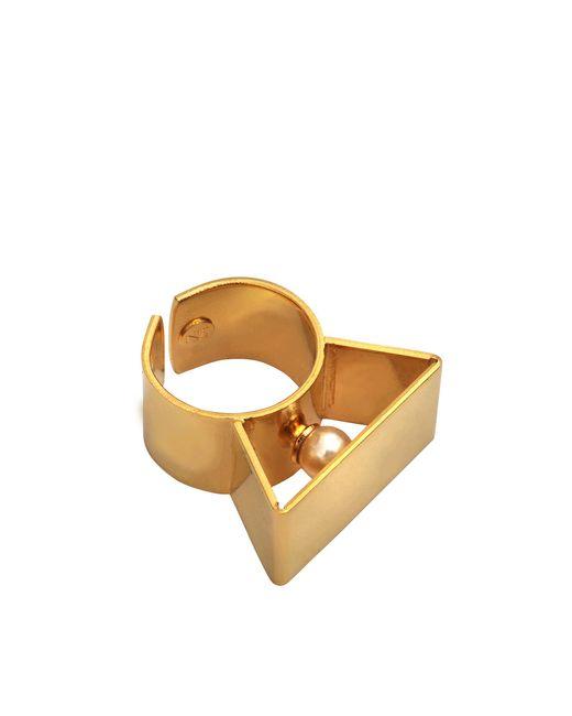 Helene Zubeldia | Metallic Glass Pearl Metal Adjustable Ring | Lyst