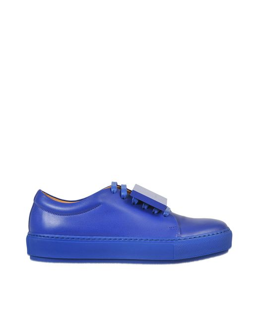 Acne | Blue Adriana  Leather Sneakers | Lyst