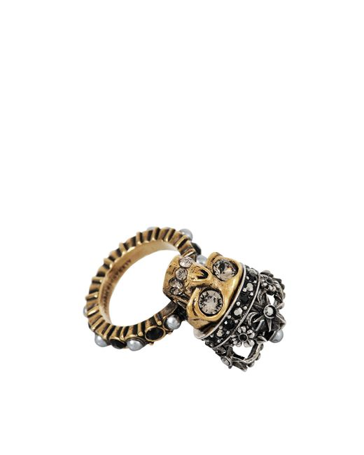Alexander McQueen | Metallic Skull King Ring | Lyst