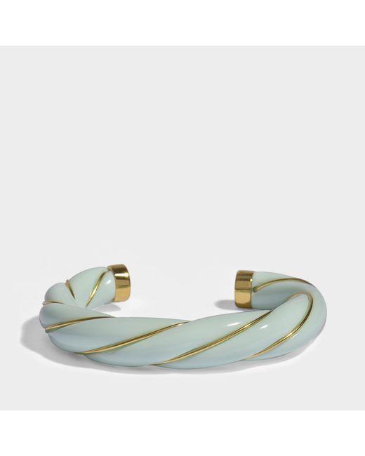 Aurelie Bidermann - Multicolor Diana Twisted Bracelet In Baby Blue 18k Gold-plated Brass - Lyst
