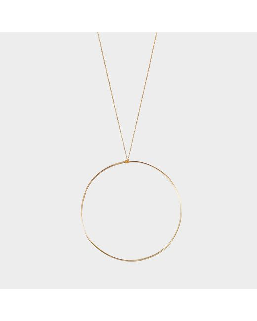Ginette NY - Metallic Jumbo Circle Necklace - Lyst