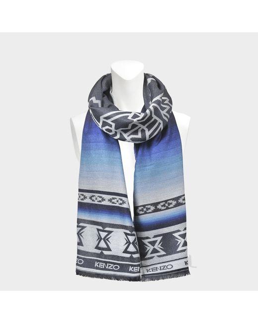KENZO - Blue Winter Tiger Scarf - Lyst