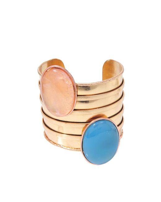 Sylvia Toledano | Blue Twins Pink Gold Cuff | Lyst