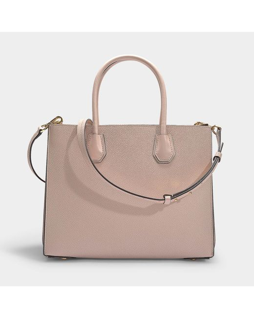 bdb93d9d9741ad ... MICHAEL Michael Kors - Mercer Large Accordion Convertible Tote Bag In Soft  Pink Grained Calfskin ...