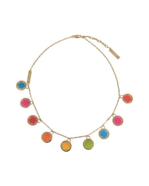 Marc Jacobs | Multicolor Logo Disc Rainbow Statement Necklace | Lyst