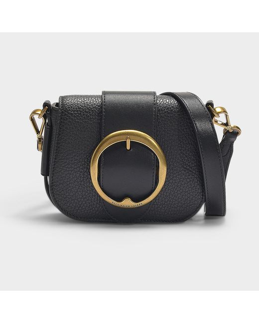 Polo Ralph Lauren - Lennox Small Crossbody Bag In Black Pebble Leather -  Lyst ... 38405398b3618