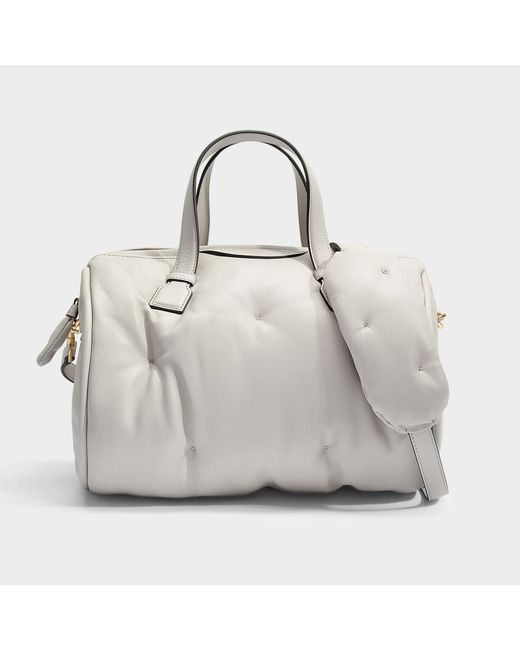 Anya Hindmarch - Natural Chubby Barrel Bag In Steam Quilted Calf Leather - Lyst