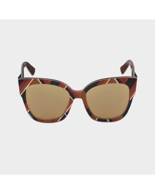 Gucci - Brown Sunglasses Gg0059s-003 - Lyst