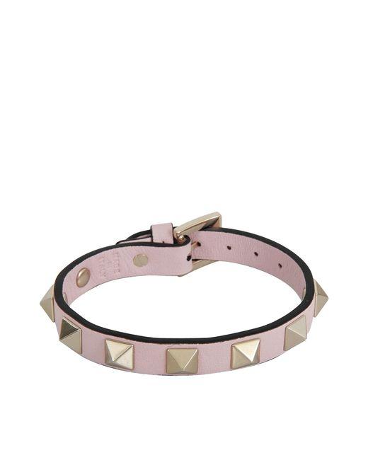 Valentino | Pink Rockstud Bracelet | Lyst