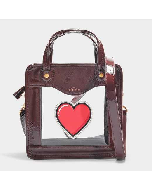 Anya Hindmarch - Multicolor Rainy Day Heart Crossbody Bag In Maroon Synthetic Material - Lyst