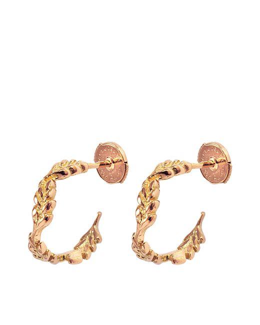 Aurelie Bidermann | Metallic Fine Jewellery - 18k Gold Mini Wheat Hoops | Lyst