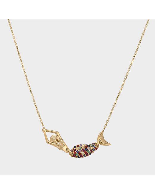 Anton Heunis - Metallic Mermaid Multicolour Necklace In 14k Gold And Precious Stones - Lyst