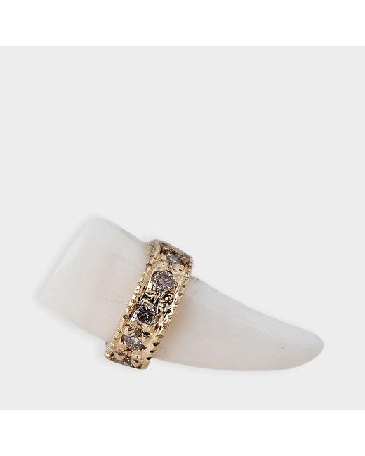 Jacquie Aiche - Metallic Bone Tusk Stud Mono Earring - Lyst
