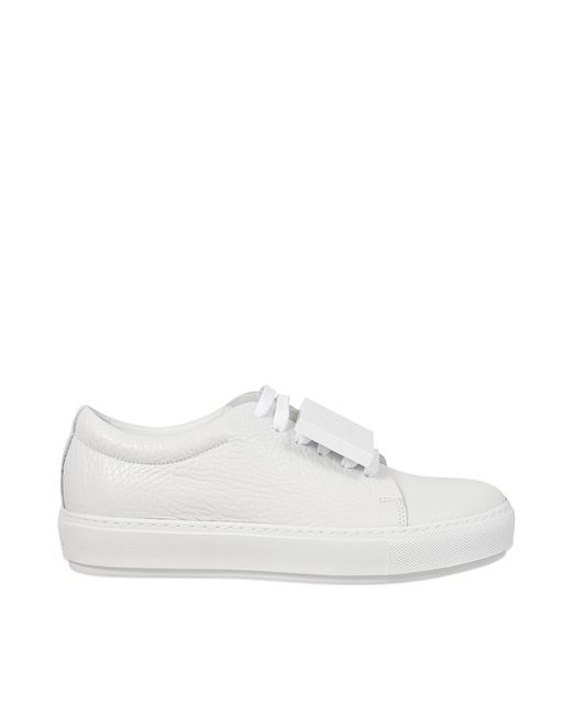 Acne - White Adriana Grained Leather Sneaker - Lyst