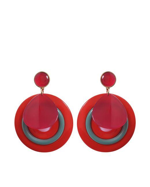 Giorgio Armani - Plexi Earrings In Red Acetate - Lyst