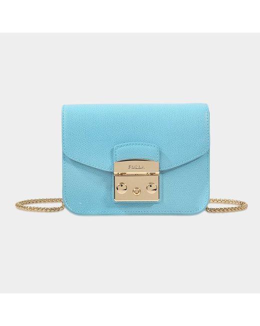 Furla - Blue Metropolis Mini Crossbody Bag - Lyst