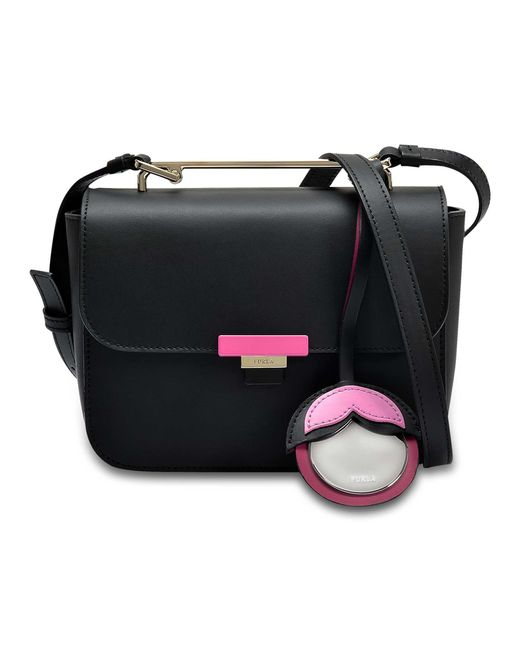 Furla - Black Elisir Mini Crossbody Bag - Lyst