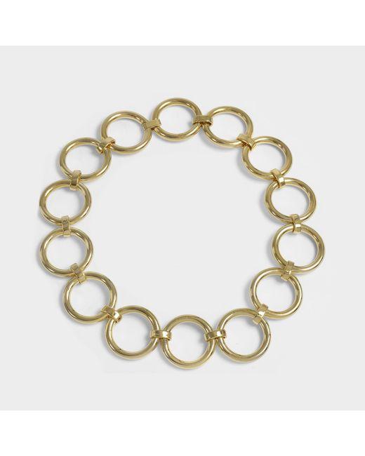 Saskia Diez - Metallic Bold Necklace In 18k Gold-plated Brass - Lyst