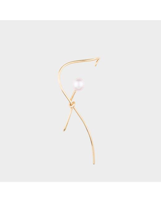 Joanna Laura Constantine - Metallic Gold Plated Knot Pearl Ear-cuff - Lyst