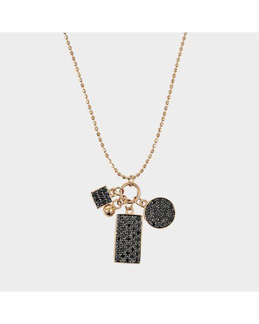 Ginette NY - Metallic Mini Black Diamond Ever Charm Necklace - Lyst