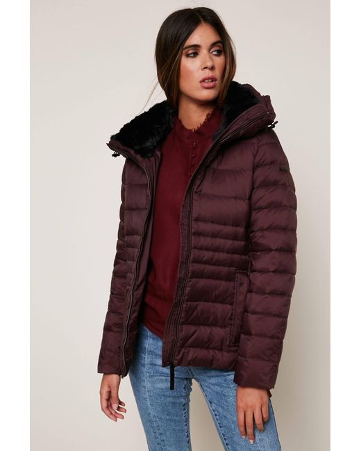 Lyst Esprit Quilted Jacket In Red