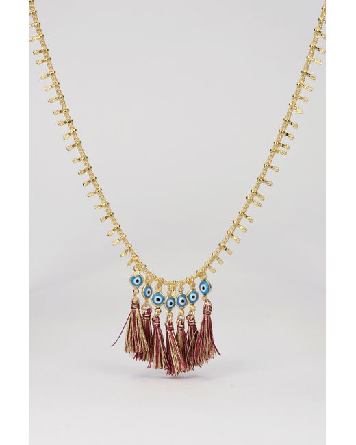 Chanael K | Metallic Necklace / Longcollar | Lyst