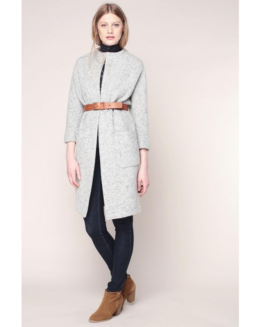 Ba&sh | Gray Mid Coat | Lyst