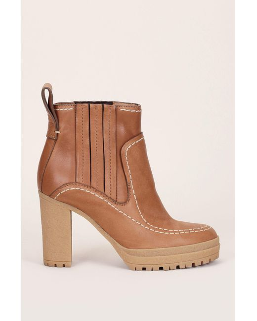 See By Chloé | Brown Bootee And Ankle Boot | Lyst