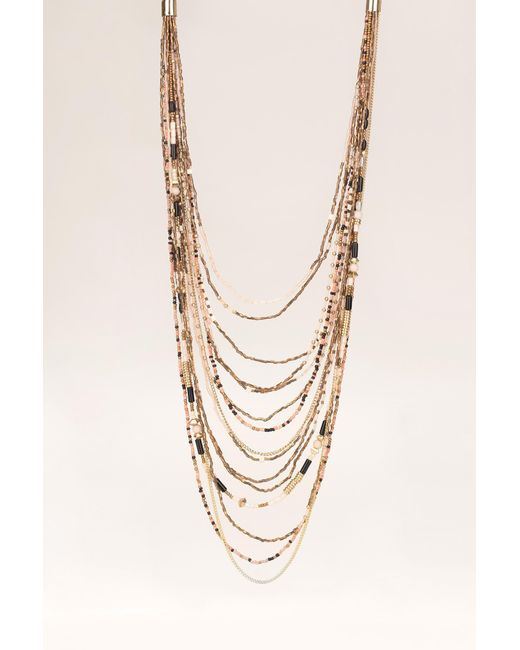Pieces | Pink Necklace / Longcollar | Lyst
