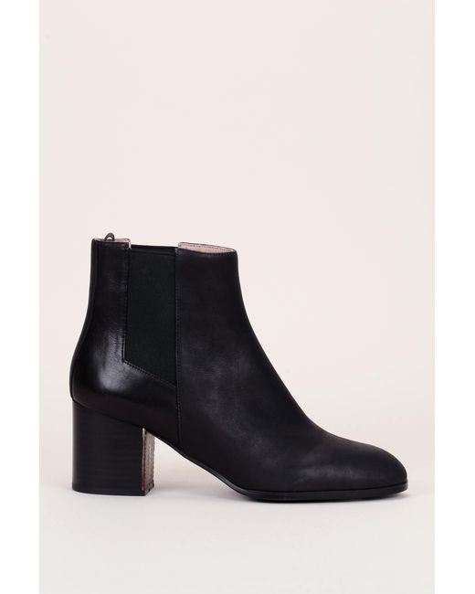 Jil Sander Navy - Black Bootee And Ankle Boot - Lyst