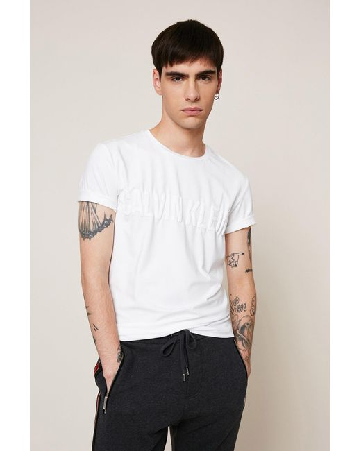 Calvin Klein   White T-shirt for Men   Lyst