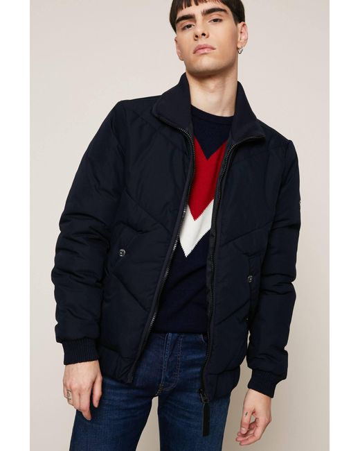 G-Star RAW - Blue Quilted Jacket for Men - Lyst