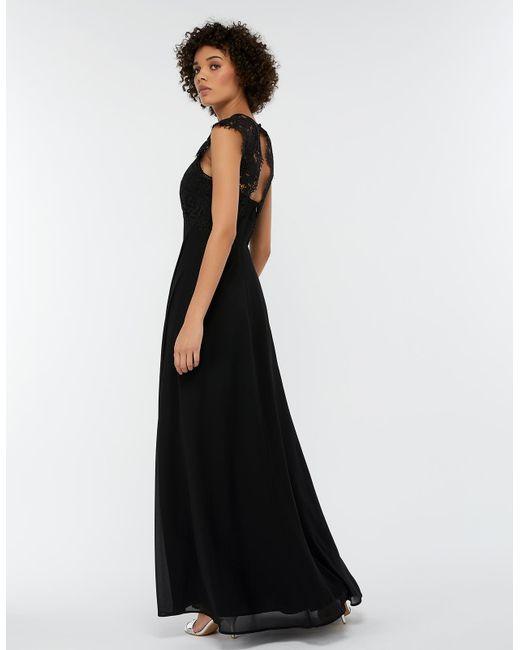 26a61bb5 Monsoon Morgane Lace Maxi Bridesmaid Dress in Black - Save 31% - Lyst