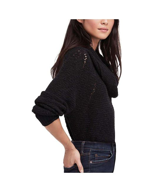 Free People - Black By Your Side Sweater - Lyst