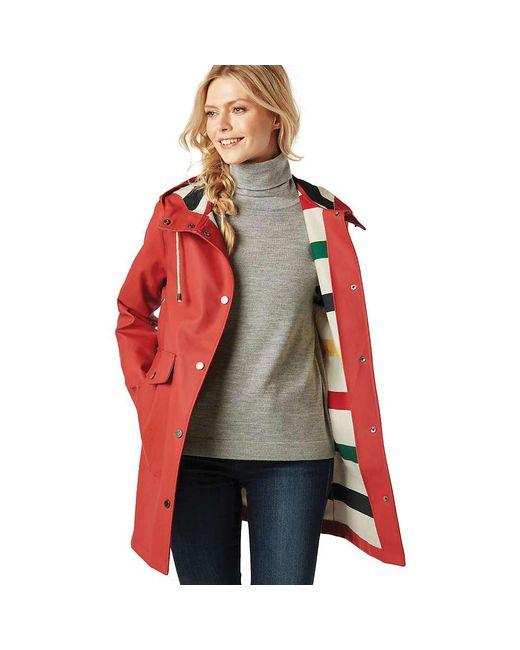 Lyst Pendleton Surrey Jacket In Red