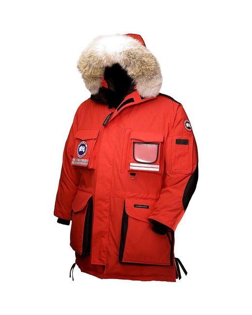 canada goose snow mantra parka red men's