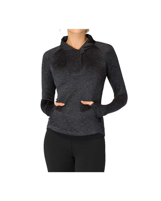 Beyond Yoga - Black Featherweight Spacedye Shawl Collar Fitted Pullover - Lyst